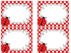 Ladybug  Theme Name Tags and  Labels