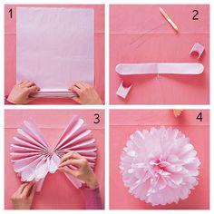 Pompom de papel seda