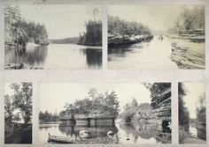 Dells Composite [5 Panels] | Photograph | Wisconsin Historical Society