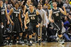 Michigan State reacts at the end of the half against Michigan at the Big Ten Tournament Championship game at Bankers Life Fieldhouse on Sunday, March 16, 2014. Melanie Maxwell | The Ann Arbor News