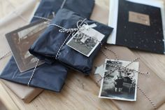 Old pictures as gift tags Via junkaholique