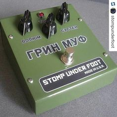 repost @stompunderfoot: Flashback Fuzzday Vintage Edition Green Russian #bigmuff #bigmuffpi #fuzz #fuzzbox #fuzzpedal