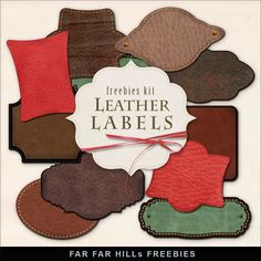 Far Far Hill - Free database of digital illustrations and papers: New Freebies Kit of  Leather Labels