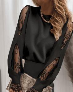 Office Outfits Women, Mode Outfits, Fashion Outfits, Chic Type, Trend Fashion, Love Fashion, Womens Fashion, Mesh Tops, Sheer Mesh Top