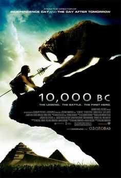 10,000 BC (2008). A prehistoric mammoth hunter goes on an anachronistic journey from mountain to forest to what might be the Nile Valley, to rescue enslaved members of his tribe. The specificity of the title hurts the film because of the expectations it sets up - there is no attempt at historical accuracy whatsoever, only a brisk run through the heroic journey formula.