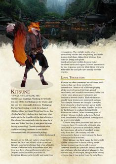 Post with 3719 views. Kitsune D&D Dungeons And Dragons Races, Dungeons And Dragons Classes, Dnd Dragons, Dungeons And Dragons Homebrew, Dungeons And Dragons Characters, Dnd Characters, Fantasy Races, Fantasy Rpg, Magical Creatures