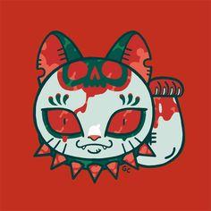 unlucky cat by genicecream on DeviantArt Keith Haring Art, Maneki Neko, Cat Tattoo, Cat Drawing, Disney Characters, Fictional Characters, Doodles, Fantasy, Cats