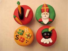 Cupcakes Sinterklaas Cupcake Art, Cupcake Cookies, Cupcake Toppers, Cupcake Tutorial, Saint Nicolas, Beautiful Cupcakes, Girl Cakes, Sweet Cakes, Creative Cakes