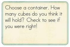 Kindergarten Kindergarten: Math Problem-Solving - capacity