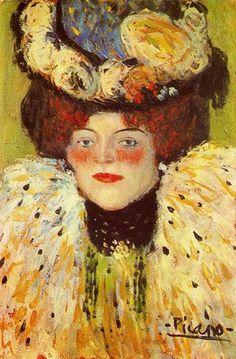 PABLO PICASSO — Head Of Woman 1901 Pablo Picasso