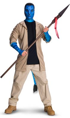 Avatar Adult Deluxe Jake Sully Costume And Mask: Includes: Jacket with attached shirt, mask and pants. Does not include shoes. This is an officially licensed Avatar product. Avatar Costumes, Buy Costumes, Costume Shop, Adult Costumes, Female Costumes, Space Costumes, Pirate Costumes, Disney Costumes, Carnival