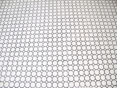 octagon and dot white tile with grey grout