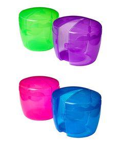 Pink, Blue, Green & Purple Muffin-to-Go Set #zulily #zulilyfinds