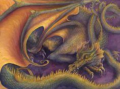Sleeping Dragon (watercolor)