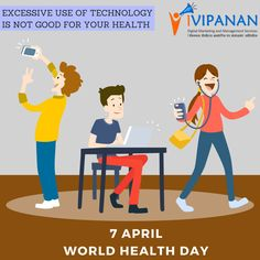 #Technology is not always good, the excessive use of it is harmful for your #health. Happy #WorldHealthDay. #digitalmarketing #socialmedia #surat #gujarat. www.ivipanan.co.in