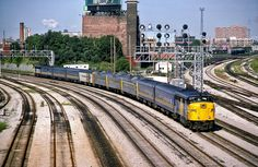 VIA Rail FPA-4 #6793 trails on an equipment move from Toronto Union Station to the VIA servicing facility at Mimico on August 4, 1986. Uncredited slide from my collection, but I believe photographer is either Reg Button or Bill McArthur.