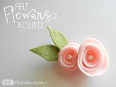 Felt Rolled Flower - The Ribbon Retreat Blog
