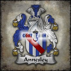 Annesley Family Crest British Coat of Arms(GB)