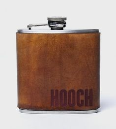 Hooch Leather Wrapped Flask - awesome gift for your brother or boyfriend