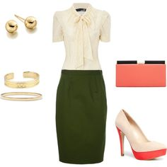 such a pretty, ladylike combination for work!