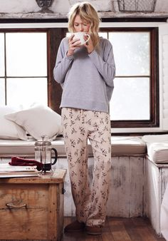 Antique Floral Pyjama Trousers | Pyjamas, Nightwear | hush | hush-uk.com  Looks like heaven