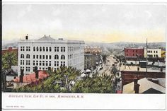 BIRD'S-EYE VIEW, ELM STREET IN 1900, MANCHESTER, NEW HAMPSHIRE