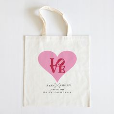 Perfect for your valentine! Perfect for your wedding. We love our new Tilted heart tote #love #valentinesday #sweet #red #pink #totes