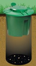 Doggie Dooley Dog Poop Composter helps keep your yard clean.
