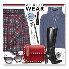 """""""Checked Ruffle Skirt & Cashmere Turtleneck"""" by brendariley-1 ❤ liked on Polyvore featuring MSGM, Loro Piana, Forever 21, Yves Saint Laurent, Valentino, NYX and Givenchy"""