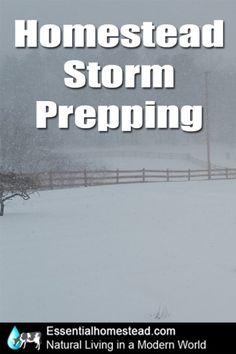 Homestead Storm Prepping checklist