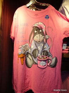 Scratch n sniff Eeyore nightshirt smells like hot chocolate. I want this shirt so badly. Pooh Bear, Tigger, Disney Inspired Fashion, Disney Fashion, Cool Cartoons, Cartoon Fun, Eeyore Quotes, Taylor Swift Outfits, Winnie The Pooh Friends