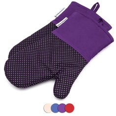 ADVANCED HEAT RESISTANCE – These heat gloves for cooking offer heat protection up to F, keeping fingers and hands safer while handling a barbecue grill, hot pans or plates, or working over a f… Purple Kitchen Accessories, Kitchen Oven, Linen Store, Cooking On The Grill, Barbecue Grill, Pot Holders, Sweet Home, Gloves, Pattern