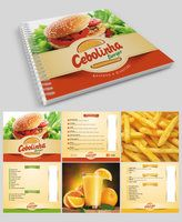 Menu for fast food restaurant. Cardápio da lanchonete.