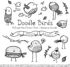 doodle birds - Google Search