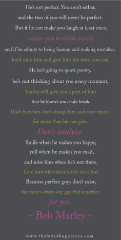 Bob Marley Love Quote...  Pretty sure these will be our vows.  <3