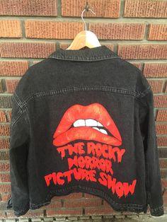 Rocky Horror Denim Jacket by allthingsgypsy on Etsy