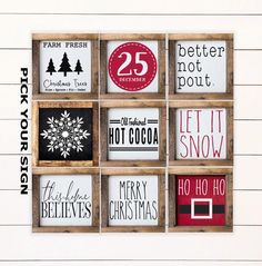 This item is unavailable Christmas Mini Signs Tiered Tray Signs. Tiered Tray Decor, Coffee Bar Sign, Christmas Decor, F Christmas Tree Box, Christmas Minis, Christmas Time, Christmas Ornaments, Christmas Coffee, Christmas Cookies, Xmas, Christmas Ideas, Christmas Christmas