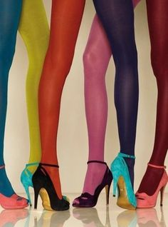 colorful panty hose tights shoes legs rainbow