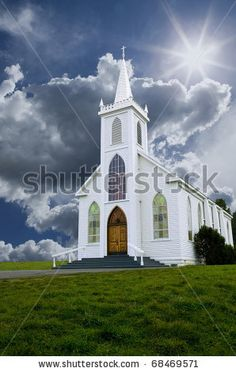 Historic Saint Teresa of Avila church in Bodega, California built in 1859. by Russell Shively, via ShutterStock