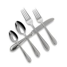 This is the pattern I have chosen.  Simple but sweet.  Wedgwood® Knightsbridge Flatware 5-Piece Place Setting - BedBathandBeyond.com