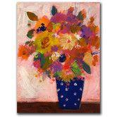 Found it at Wayfair - 'Dotted Vase #1' Canvas Art 32 X 24