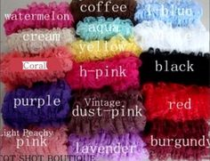 lace baby leg warmers color chart