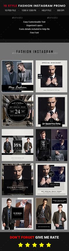 10 Instagram Fashion Post — Photoshop PSD #special day sale #coupon • Available here → https://graphicriver.net/item/10-instagram-fashion-post/19927602?ref=pxcr