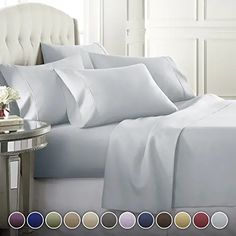 Amazon.com : cozy house Grey Bed Sheets, Luxury Bed Sheets, King Sheets, King Sheet Sets, Luxury Bedding, Fitted Sheets, Best Cooling Sheets, Best Sheets, Linens And More