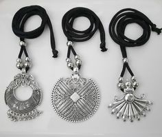 jewelryclub | Buy Jewellery Online in India at Low prices jewelryclub.in........ Silver Jewellery Indian, Silver Jewelry, Silver Pendant Necklace, Silver Necklaces, Buy Jewellery Online, Black Thread, Oxidised Jewellery, Oxidized Silver, Metal Jewelry