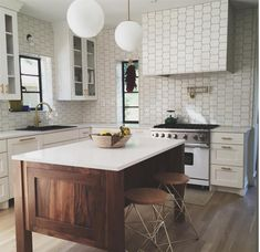 Mod Picket 4x5 Tile in Whisper White from Mission Stone Tile  DIY' er?  Need help?  Call one of our designers 888-266-4925
