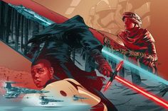 EW - Star Wars Sequel Trilogy Art by Martin Ansin