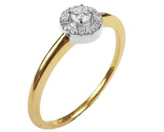 Gold ring Mothers day gift Unique Diamond Engagement Ring