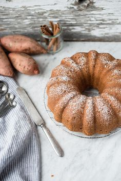 Who says pie has to have all of the fun? This sweet potato pound cake will become the life of your holiday party (or any special occasion for that matter). Pie Dessert, Dessert For Dinner, Sweet Potato Pound Cake, Cake Recipes, Dessert Recipes, Vegan Desserts, Homemade Strawberry Cake, What's For Breakfast, Homemade Cakes