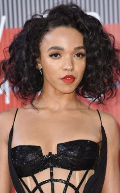 FKA Twigs with her trademark septum ring